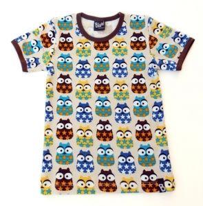 Blaa Mr Owl t-paita