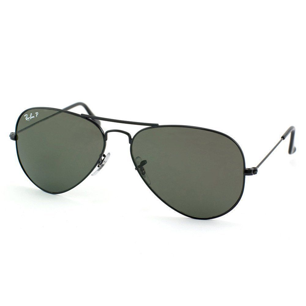 7aed4a9bb68 Ray Ban RB3025 002 58 55 Black Green Polarized Large Aviator Bundle ...