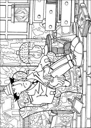 Inspector Gadget Coloring Page 10 Coloring Pages Inspector