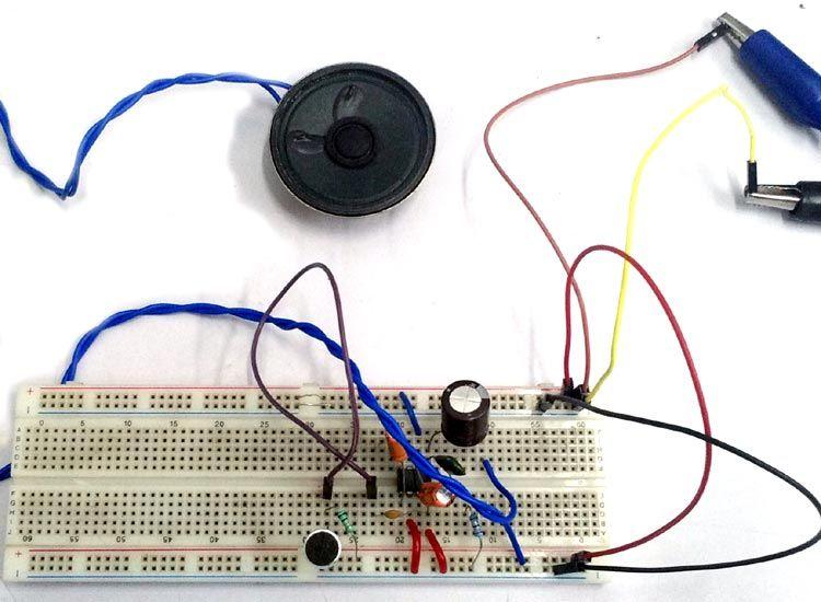Simple Microphone To Speaker Circuit