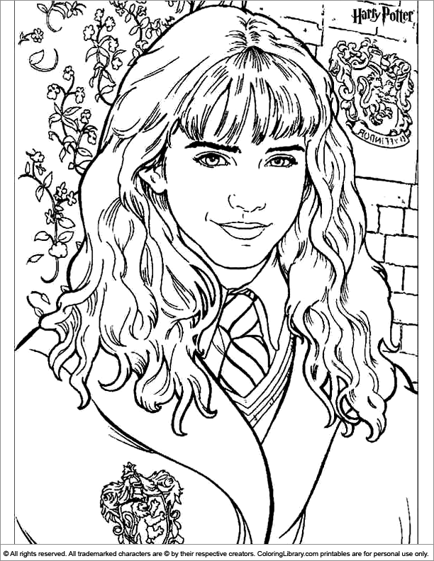 Harry Potter Coloring Page Harry Potter Birthday Harry