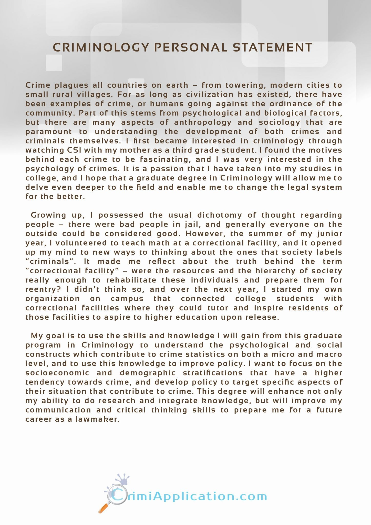 Personal Statement Template Example Thesi Clinical Psychology Doctorate Uk