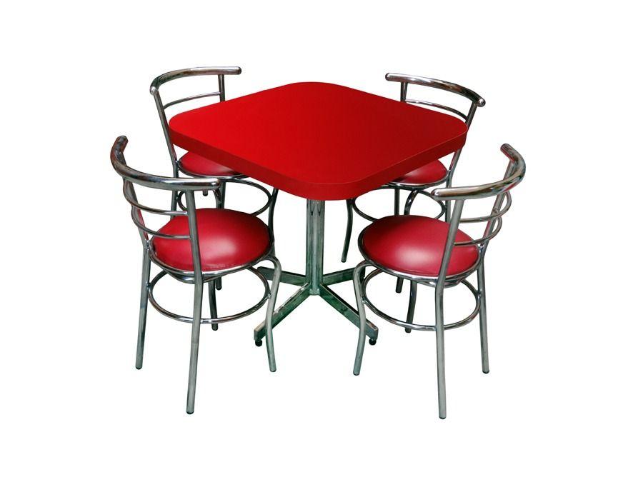 mesa c/4 sillas para restaurante,bar,cafeteria,antro,cocina ...