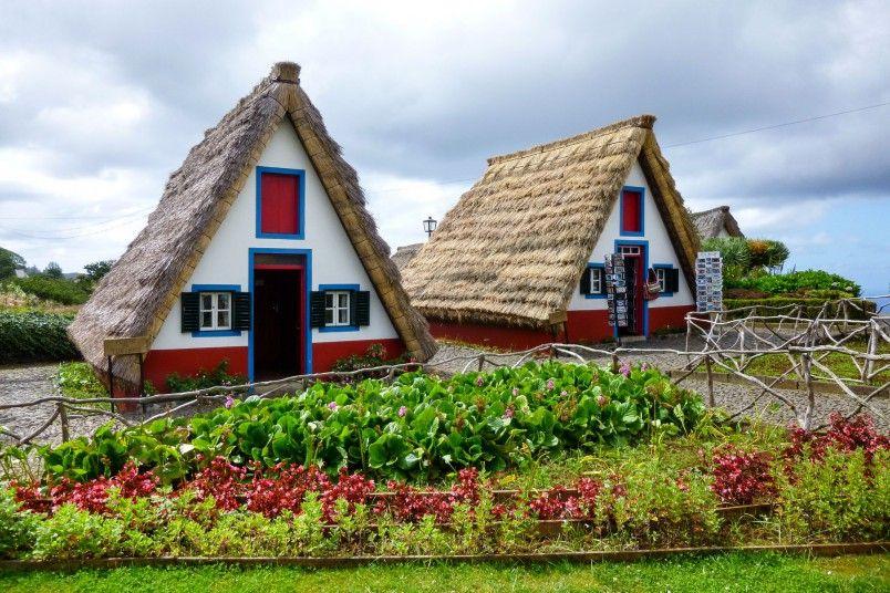 Maisons traditionnelles à Santana Madère Crédit