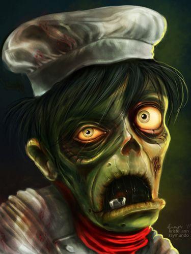 zombie cafe fan art by krayisako must love zombies