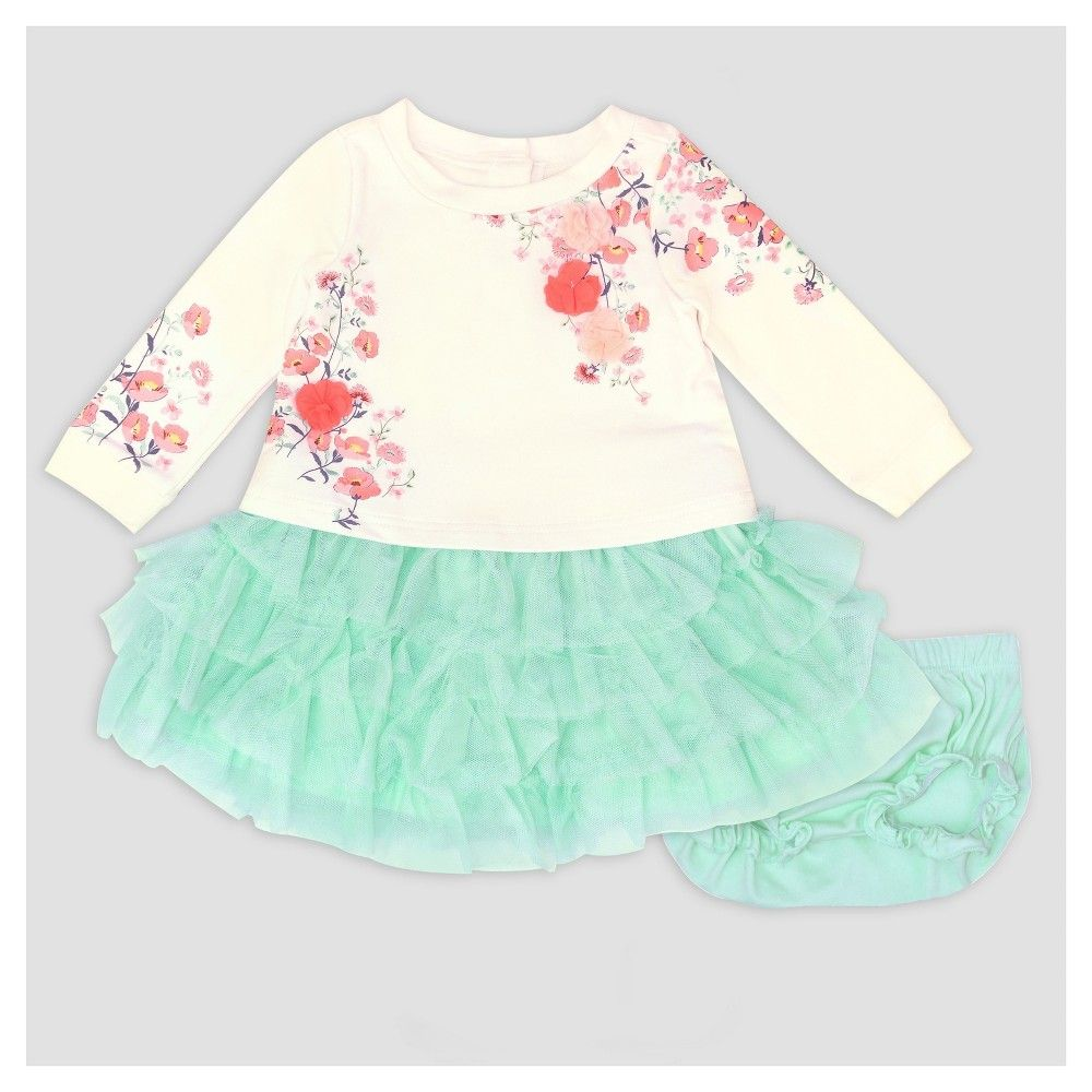 5b53b1c10 Baby Grand Signature Baby Girls' Printed Popover Dress and Ruffle Skirt Set  - Mint