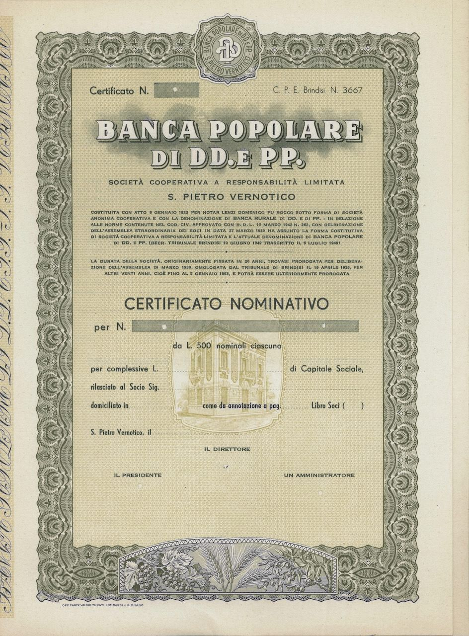 16++ Banche brindisi info
