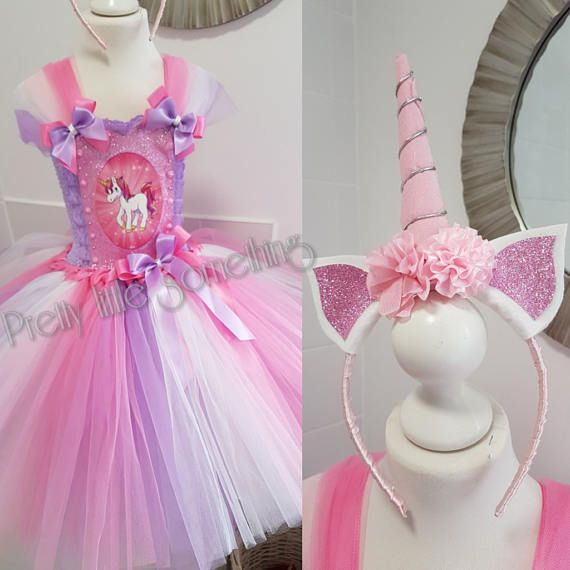 Unicorn tutu dress with matching hairband | Pinterest | Vestidos de ...
