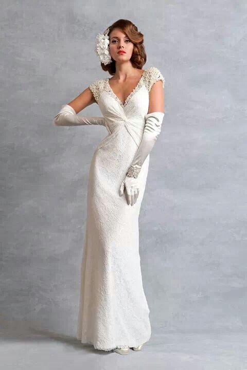 Lovely vintage look   Weddings: The Dress   Pinterest   Wedding ...