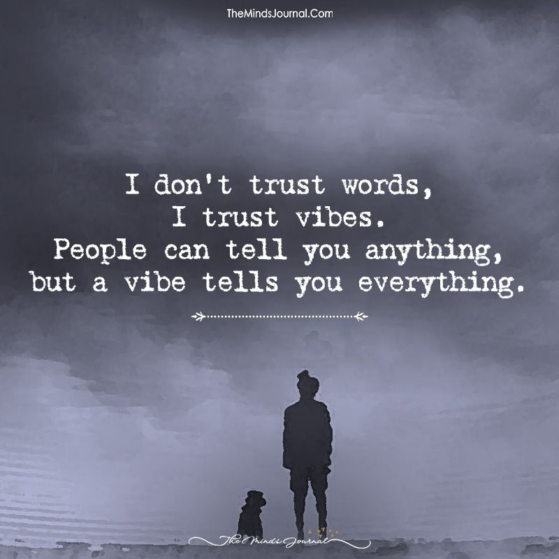 I Don T Trust Words I Trust Vibes Trust Words Vibe Quote Words Quotes