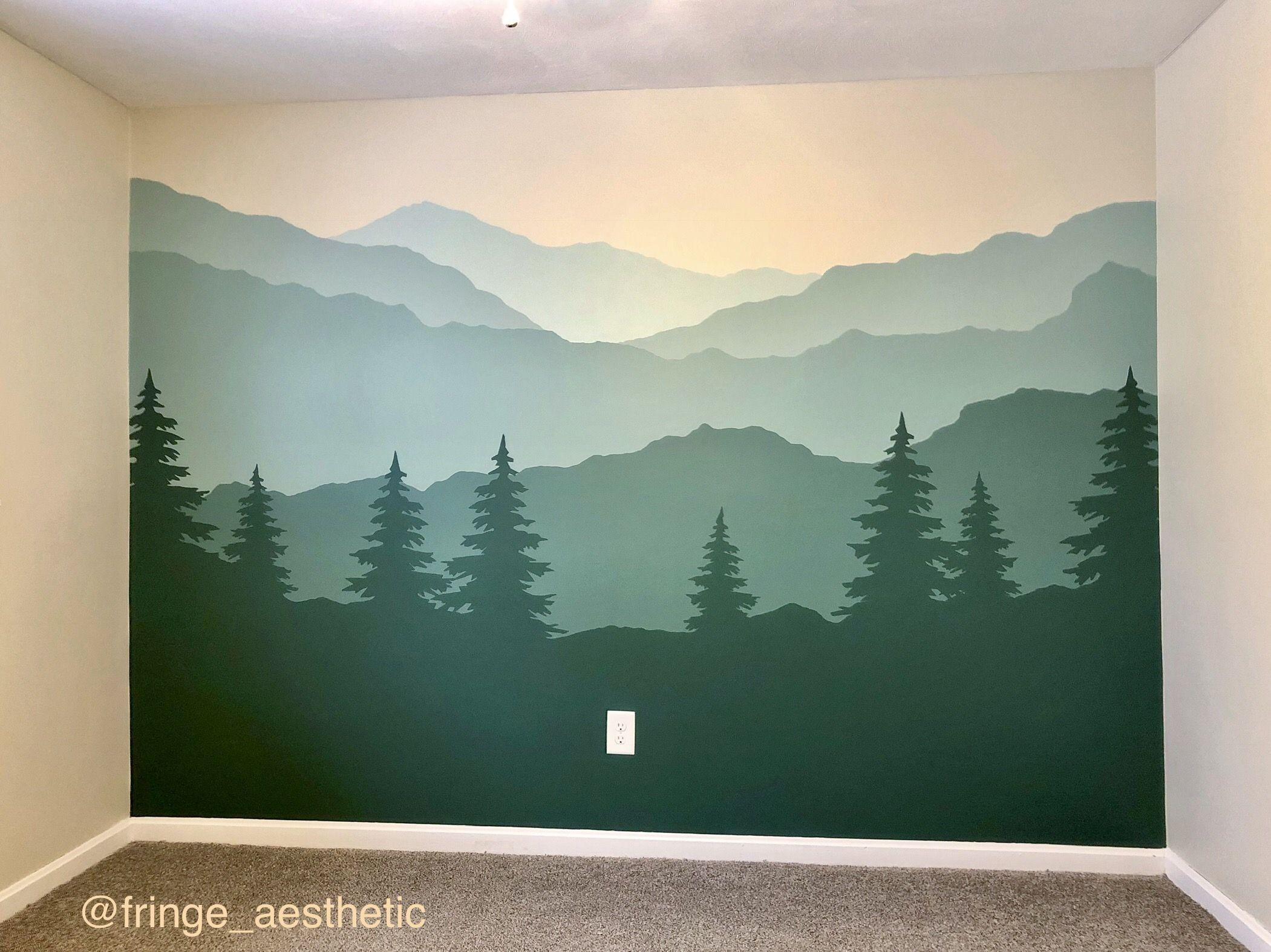 10++ Nursery mountain wall paint ideas in 2021