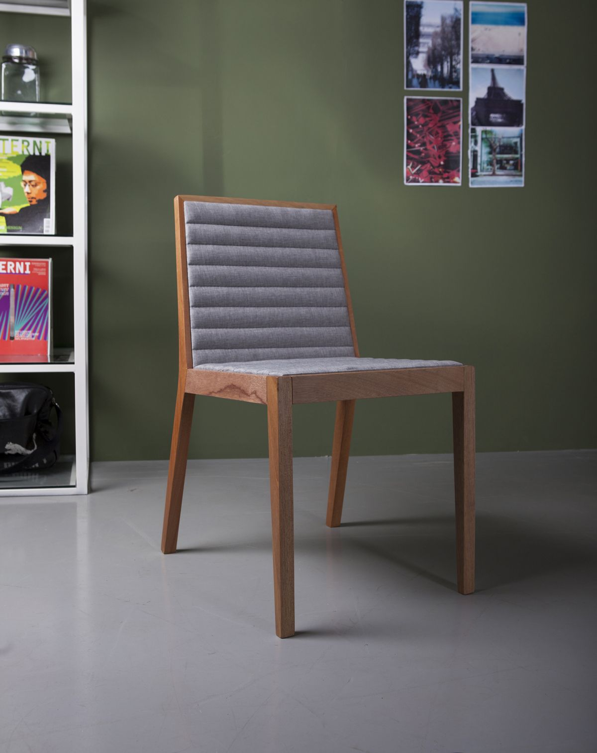 Carlton dining chair features wood frame with upholstered fabric tufted seating dining room furniture sets