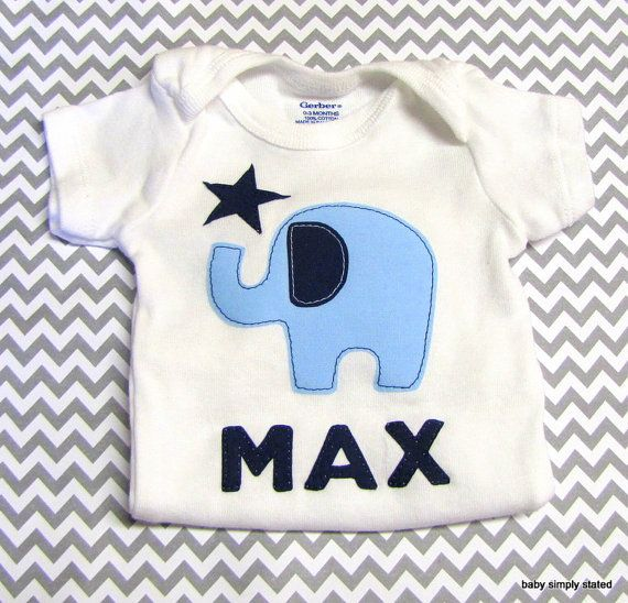 b952bfd21 Personalized Name Onesie Monogram Baby Elephant Onesie Personalized Baby  Clothes Baby Boy Clothes