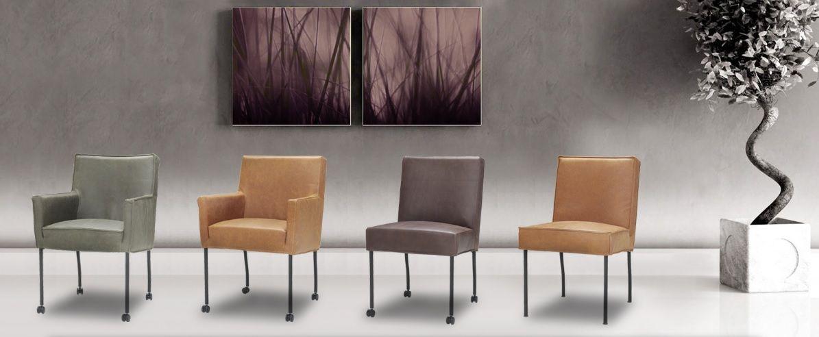 Stijlvolle designstoel met chromen poot (met wieltjes). Deze eetstoel is verkrijgbaar met armleuning als stoel Apeldoorn en zonder armleuning als stoel Zoeterwoude. Deze prachtige eetstoelen hebben een modern en strak ontwerp. Verkrijgbaar in talloze stoffen en leersoorten in allerlei kleuren. Bekijk de eindeloze mogelijkheden bij van de Pol Meubelen.