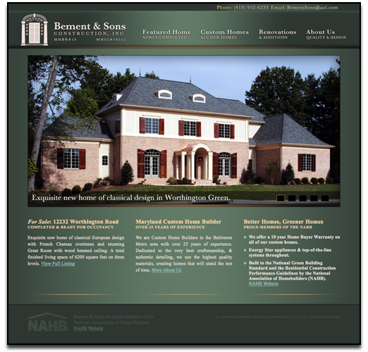 Website, Logo, Brochure, Poster, And Business Cards For An Awesome Custom  Home