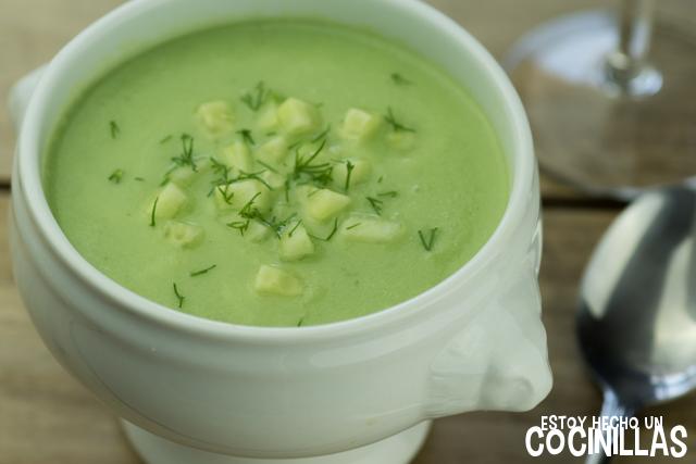 sopa fría de pepino receta