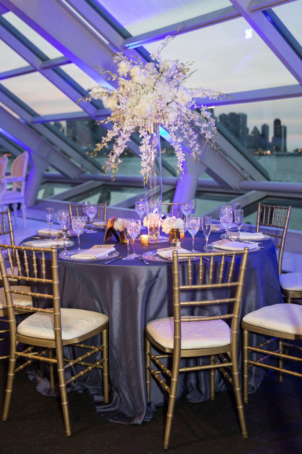 Guest Seating with city views / Indian Wedding / Summer