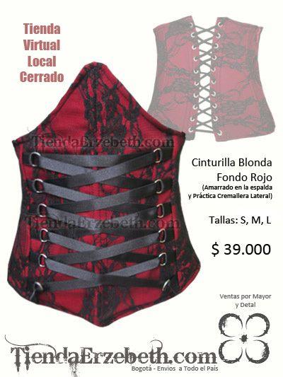 ffc13e2d9 cinturilla prenda corset madrid saragoza caracas lima guayaquil panama ropa  rockera metalera femenina female dark store new york