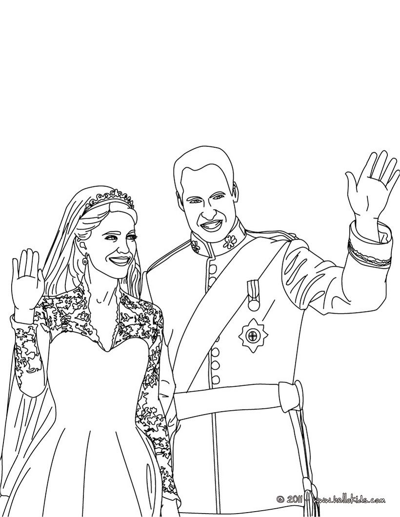 Kate And William Coloring Pages Prince William And Kate Coloring Pages People Coloring Pages Prince William And Kate