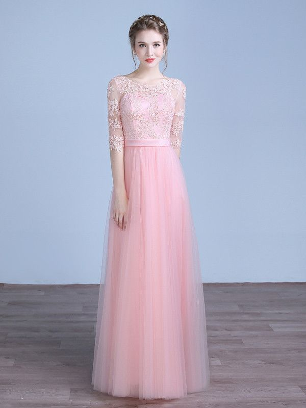 Pink Floor Length Formal Prom Evening Dress | Recepciones ...