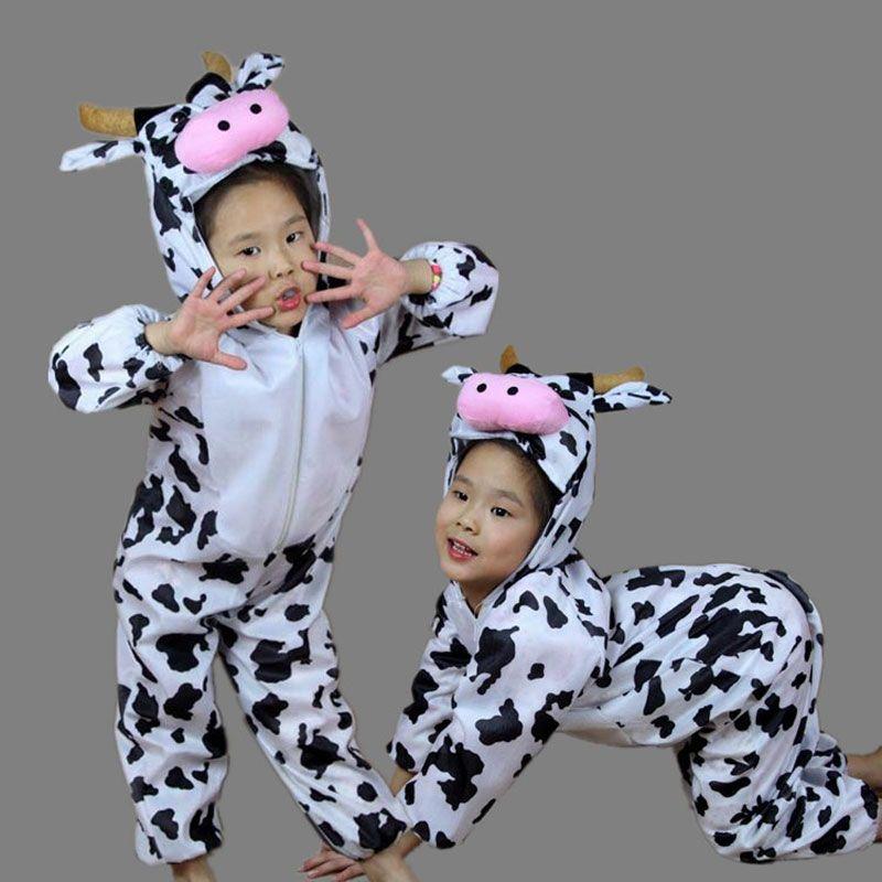 children kids toddler cartoon animal milk cow costume performance jumpsuit childrens day halloween costumes for boy - Baby Cow Costume Halloween