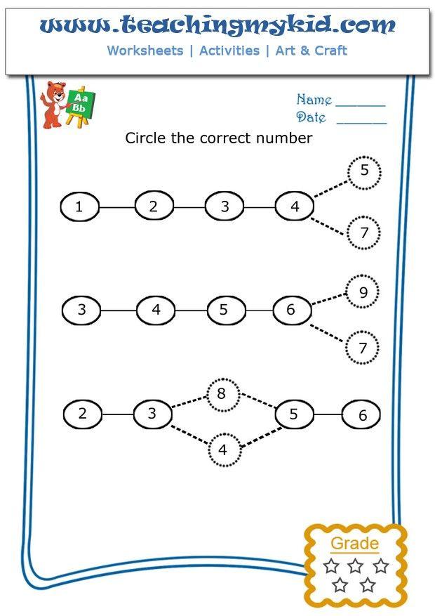 math activities for kindergarten - Circle the correct ...
