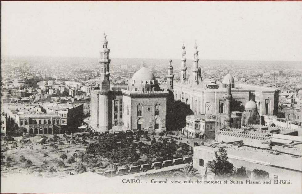 CAIRO.1910, General View with the mosques of Sultan Hassan and el-Rifai