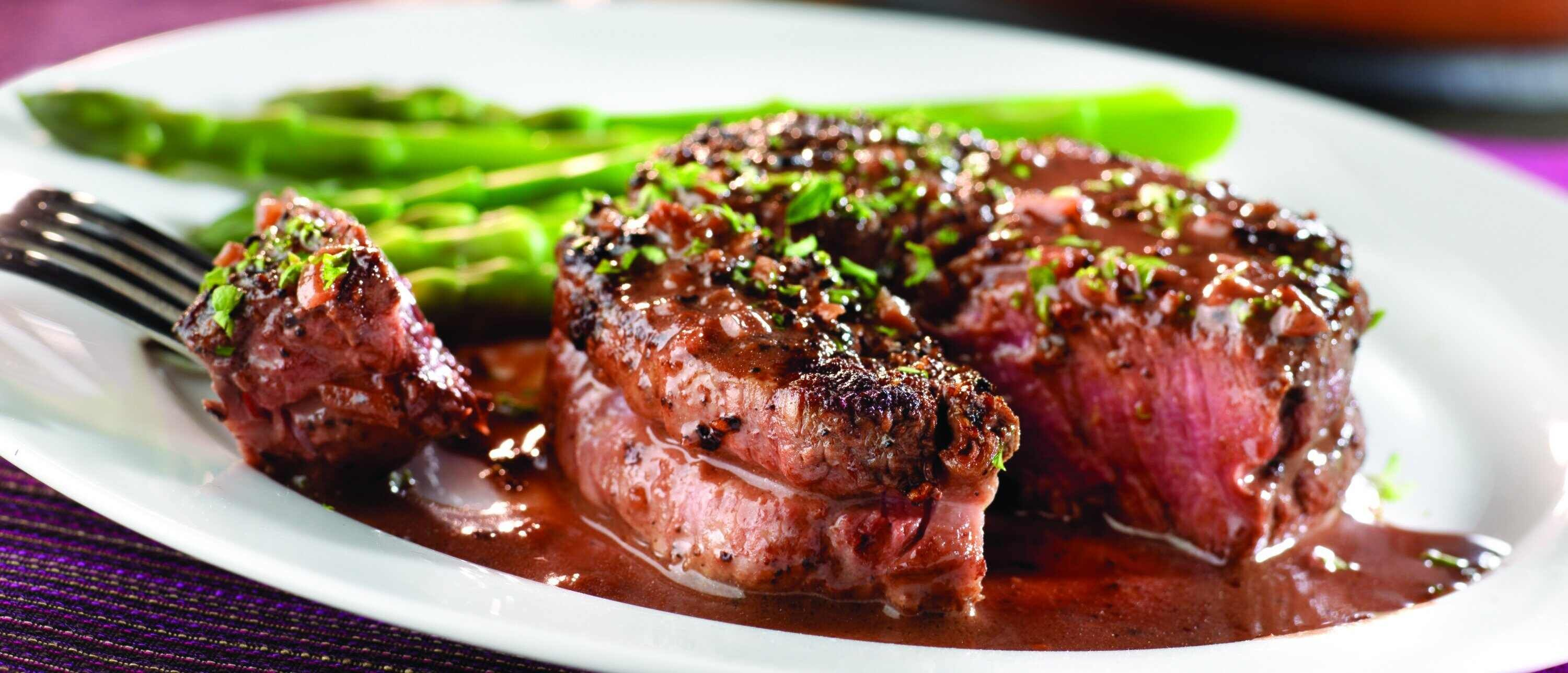Peppercorn Seasoned Steaks With Mustard Wine Sauce Recipe With Images Wine Sauce Braised Lamb Stuffed Peppers