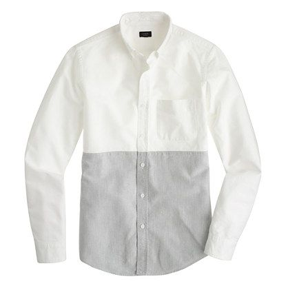 2cf5586da59 Slim vintage oxford shirt in colorblock