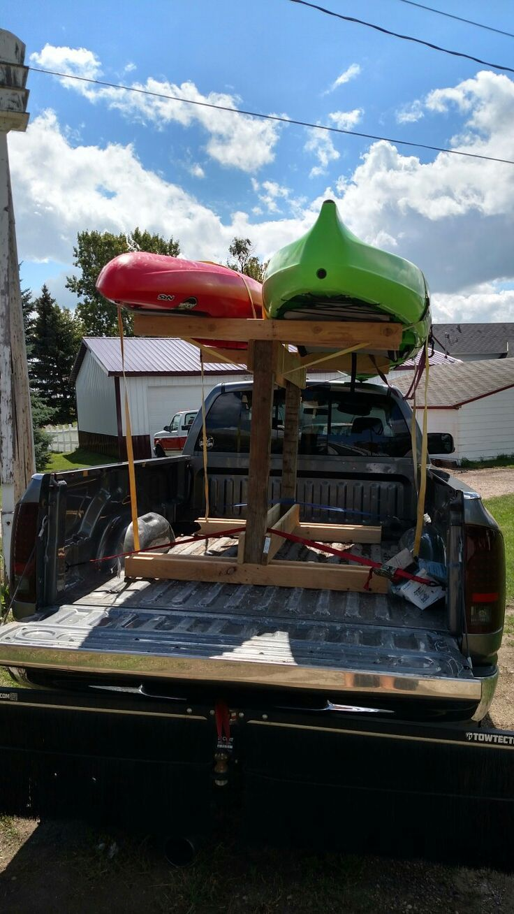 Kayak rack I made it's removable. I can take it out put it