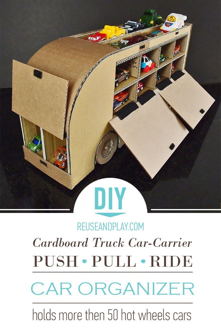 cardboard truck car-carrier. printable pdf tutorial | craft