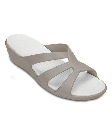 3ac9073e1f79  19.99 Platinum Sanrah Strappy Wedge Sandal - Women  zulily  zulilyfinds