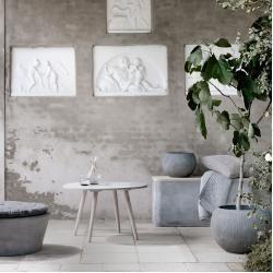 Photo of Fiber flowerpot in a set of 2 Broste Copenhagen