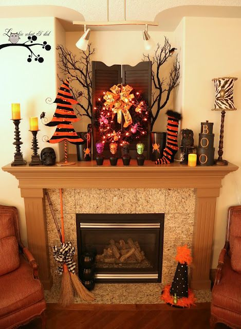 30 Fall and Halloween Mantel Ideas Mantle, Holidays and Mantels