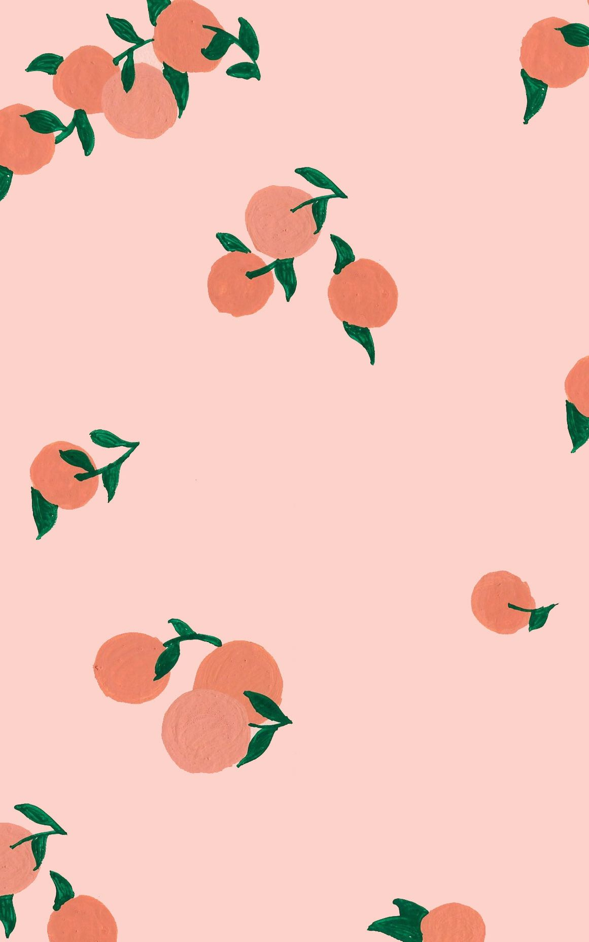 peach print, pattern phone background, wallpaper, fruit