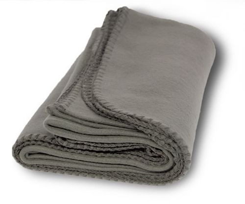 Bulk Throw Blankets Simple Promo Fleece Throw Solid Gray Case Pack 60 Animal Shelter And