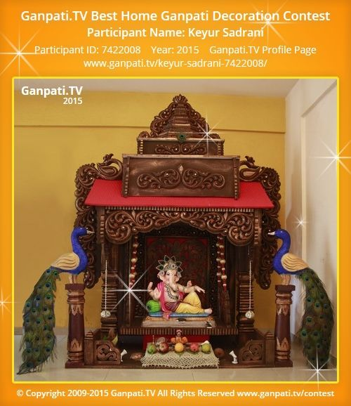 Keyur Sadrani Home Ganpati Picture 2015. View More Pictures And Videos Of Ganpati  Decoration At