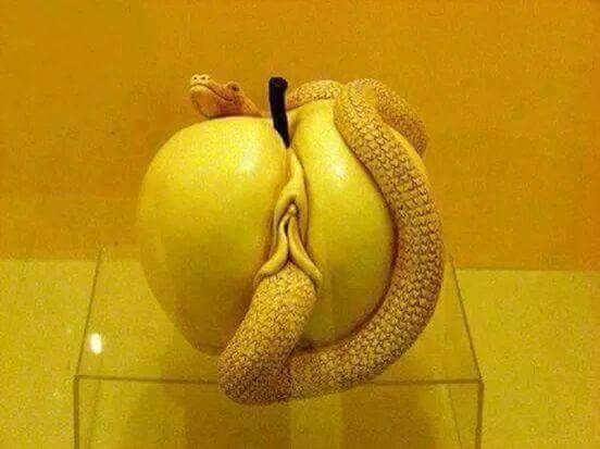 Naked and erotic snake vagina