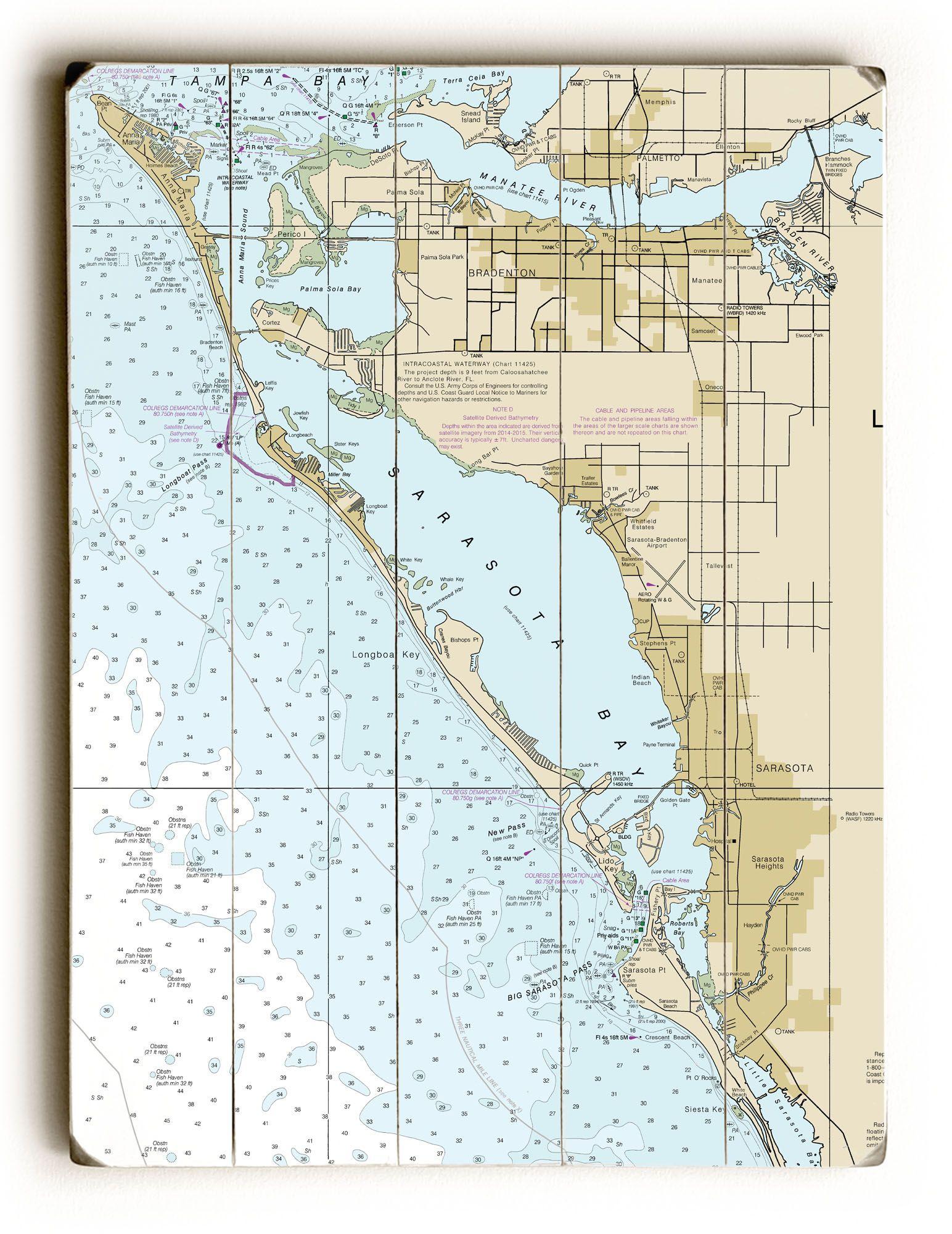 topographic map sarasota county Fl Bradenton Sarasota Fl Nautical Chart Sign Nautical Chart