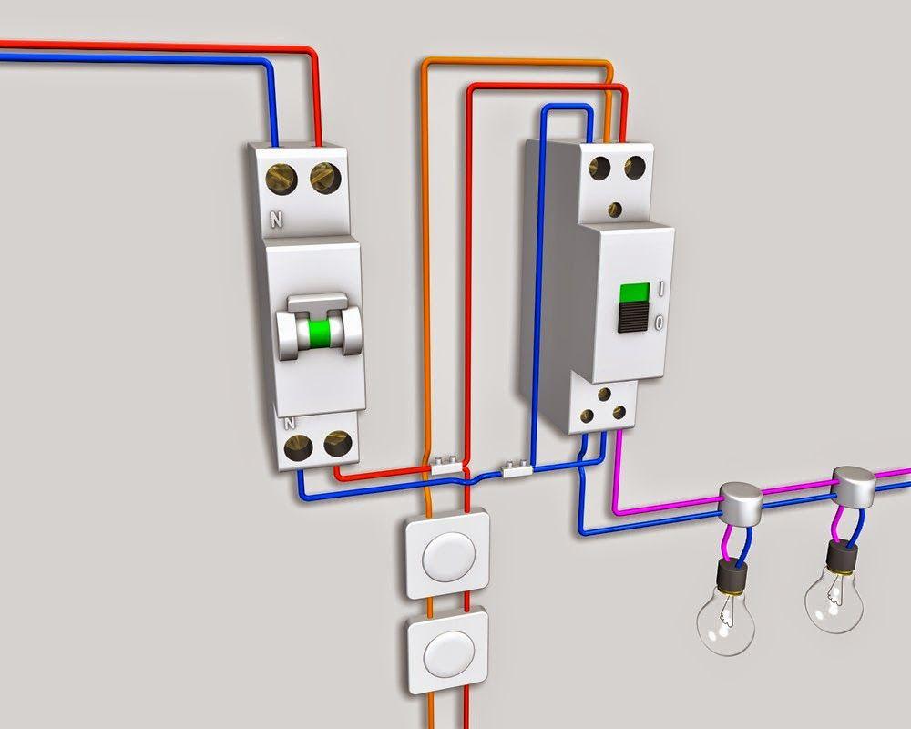 Télérupteur Bipolaire Schéma électrique Shema Electrique Electrique