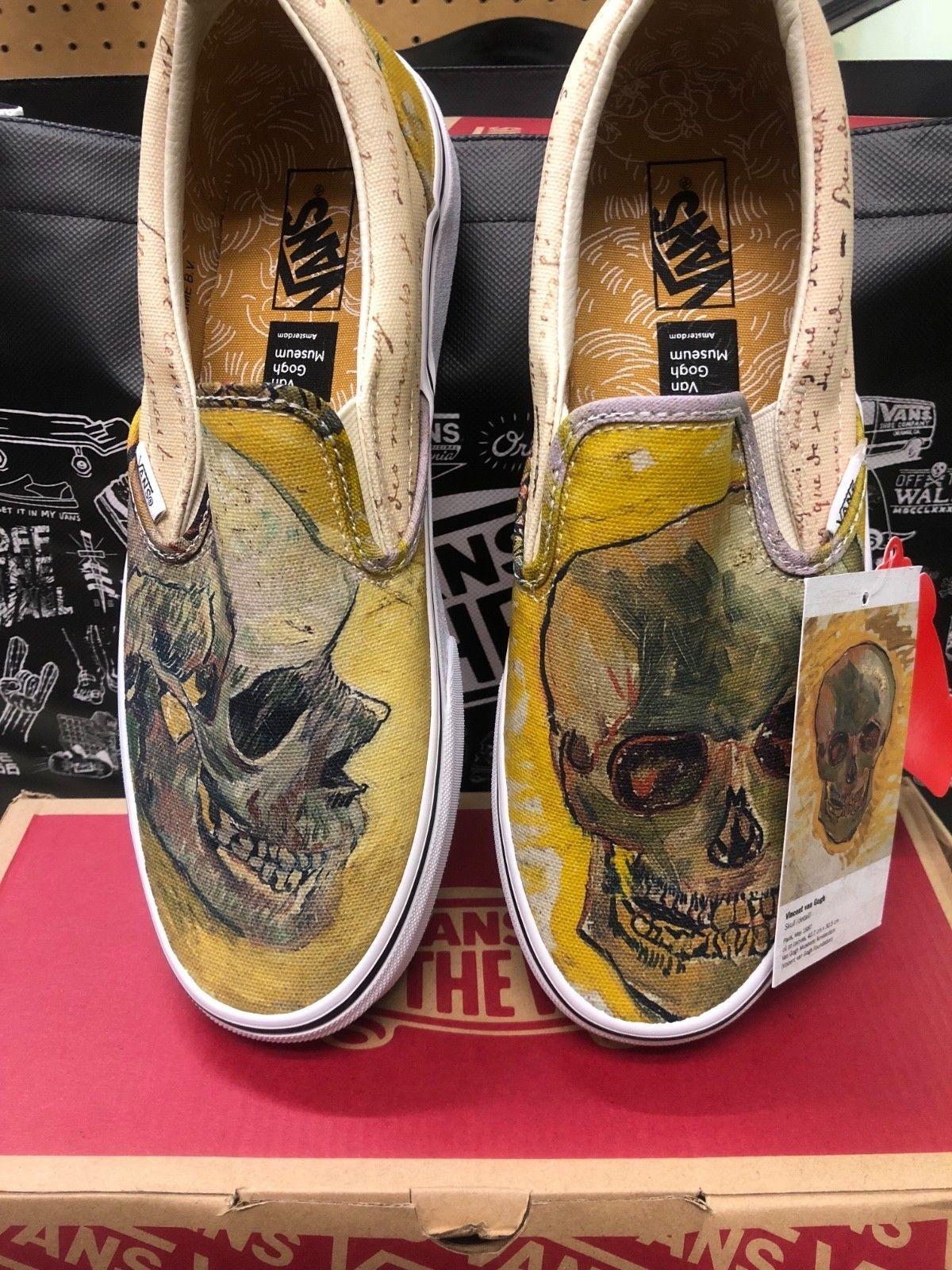 Vincent Van Gogh Skull Vans Classic Slip On 7 5 Men S 9 Women S Vans Classic Vans Vans Classic Slip On