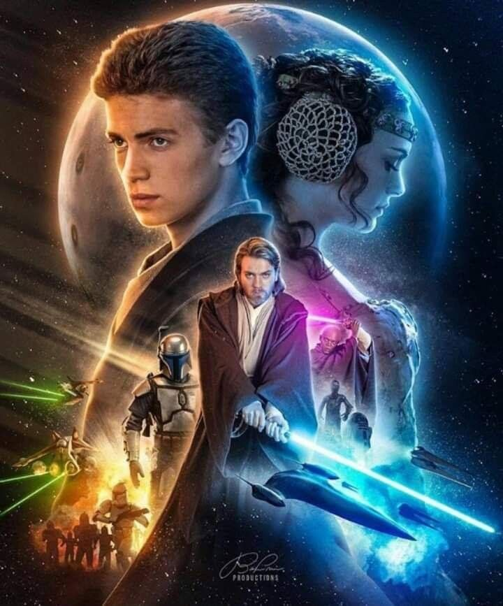 Attack Of The Clones In 2020 Star Wars Background Star Wars Awesome Star Wars Poster