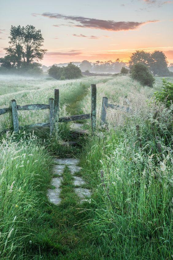 Landscape Photo Beautiful Vibrant Summer Sunrise Over English Countryside Countryside Countryside Landscape Landscape Beautiful Nature