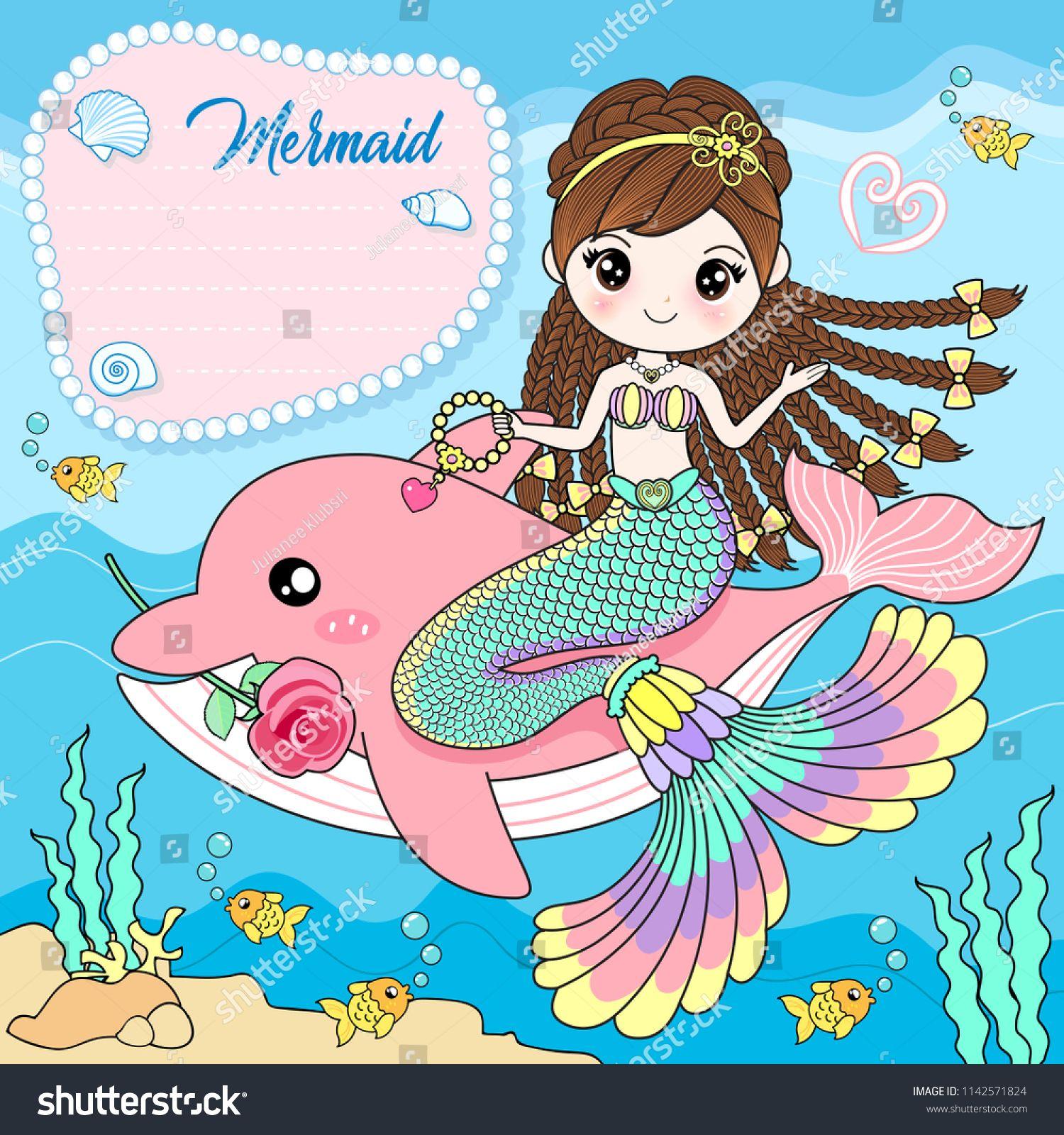 Pink Cartoon Mermaid Pictures