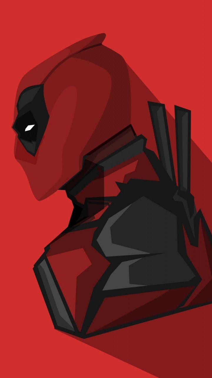 Deadpool Marvel Comics Minimal 720x1280 Wallpaper
