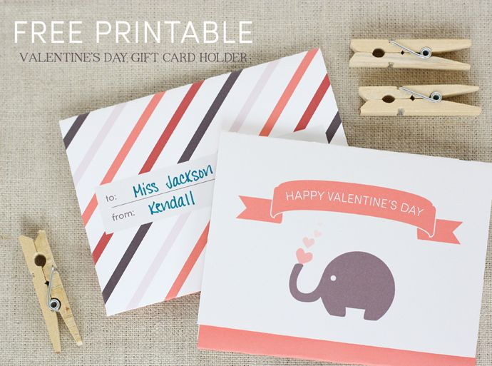 Free Printable Valentines Day Gift Card Holder  printables