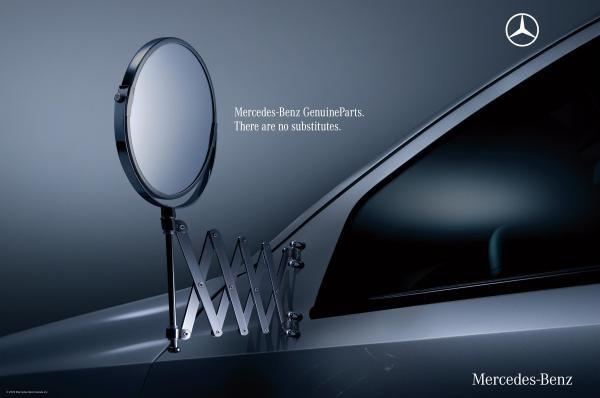 Mercedes Benz Parts >> Shaving Mirror Genuine Parts Print Ad Mercedes Benz Ads