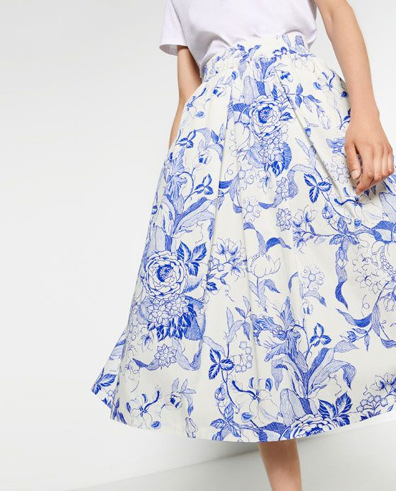 image 6 of printed midi skirt from zara oh so