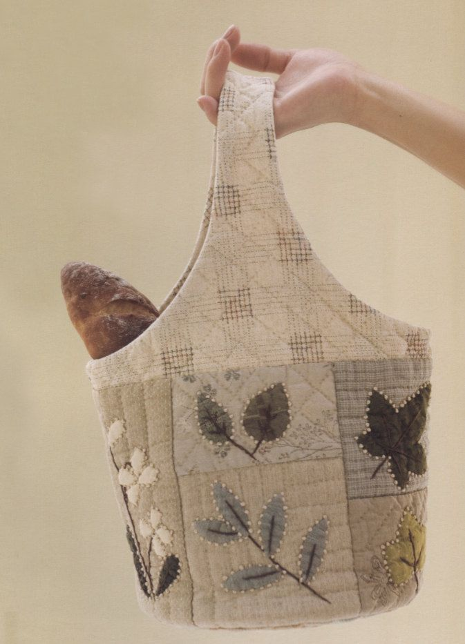 Quilted Knitting Bag Pattern : How to make tutorial flower shoulder tote bag handbag