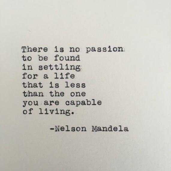 Nelson Mandela Life Quote Typed on Typewriter   Etsy